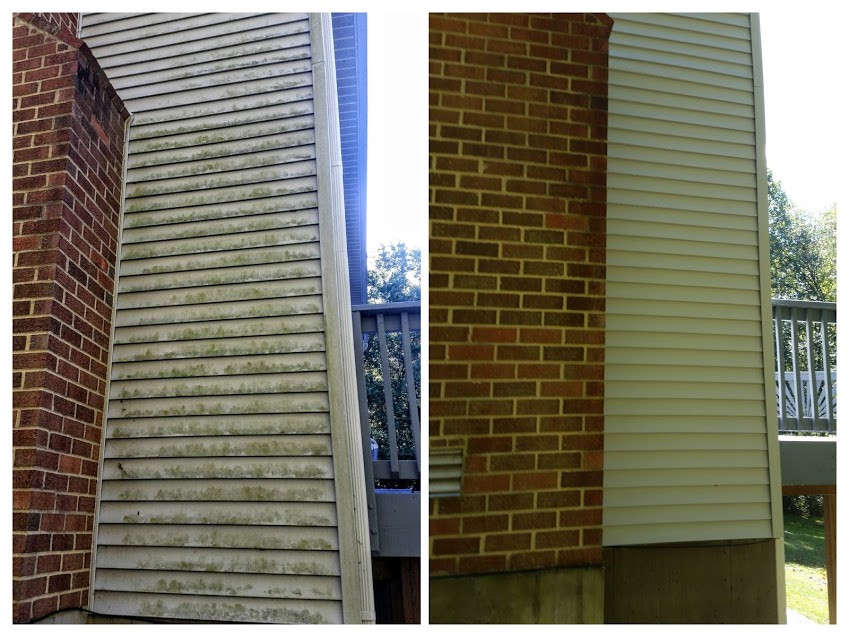 Dunkirk Maryland siding before and after
