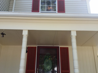 Great gutter whitening and vinyl siding cleaning today.