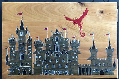 RCastle and Knights Game Master Screen -Rustic Cherry