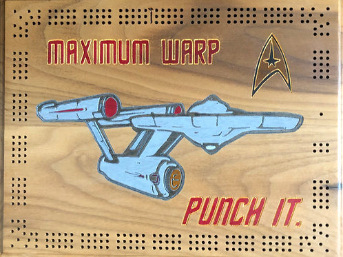 Maximum Warp Punch It - Cribbage Board