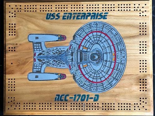 USS Enterprise Cribbage Board
