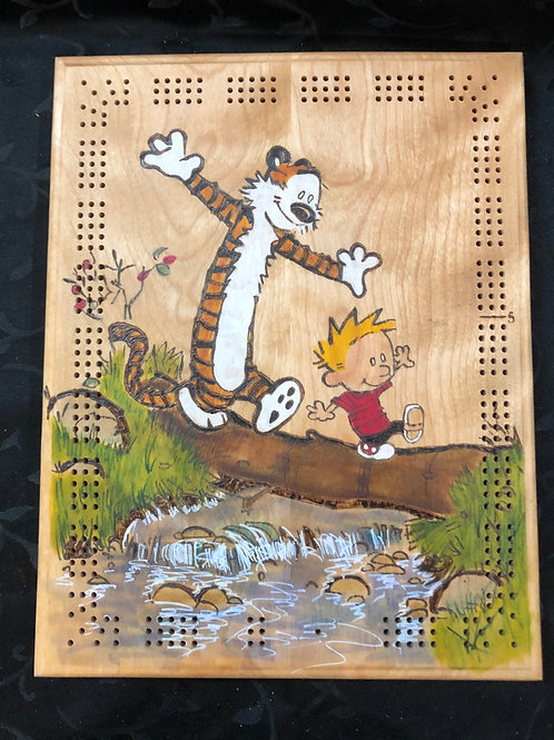 Calvin and Hobbes Cribbage Board