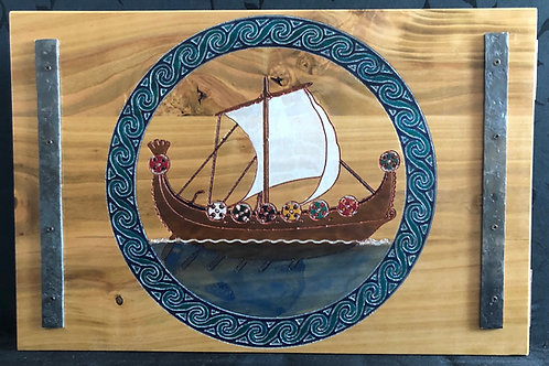 Viking Boat and Odin's Ravens Game Master Screen