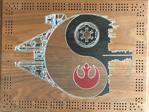 Star Wars Yin Yang Cribbage board