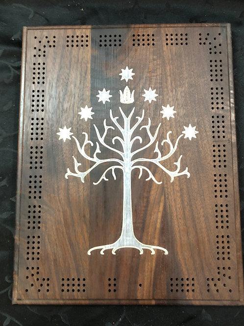 White Tree of Gondor Cribbage Board