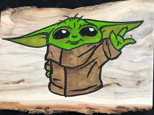 Baby Yoda live edge
