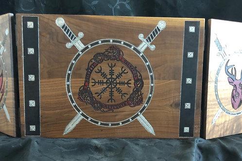 Viking shield stag-dragon GM Screen