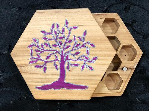 Purple Tree Dice Box