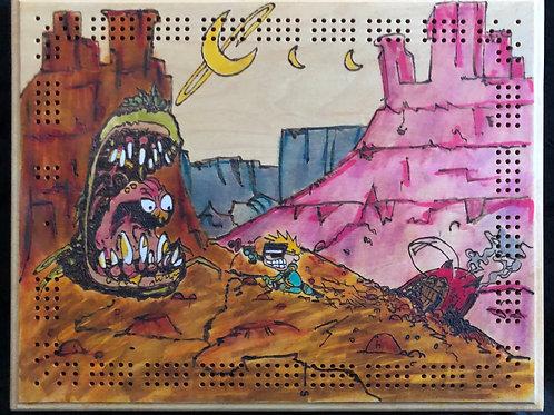 Spaceman Spiff cribbage board