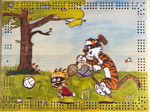 Calvin and Hobbes  Calvinball Cribbage Board