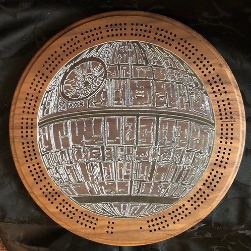 Death Star Cribbage Board  - Custom for Samantha