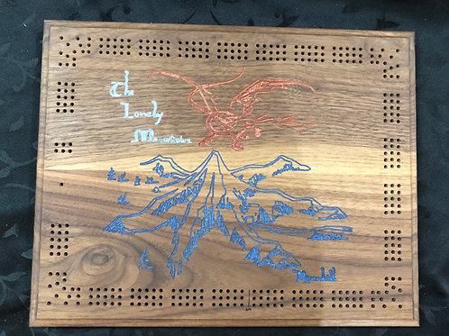 Lonely Mountain Cribbage Board