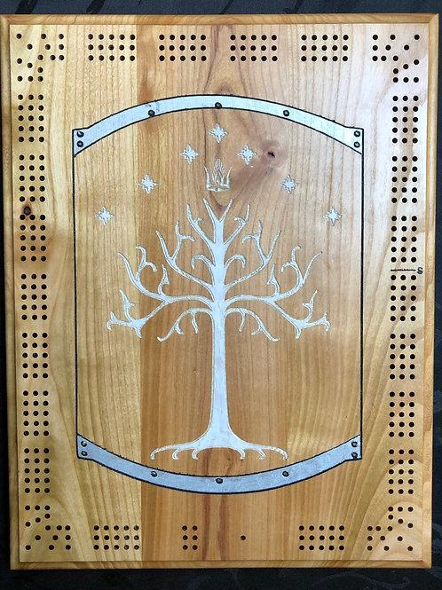 Gondor Shield Cribbage Board