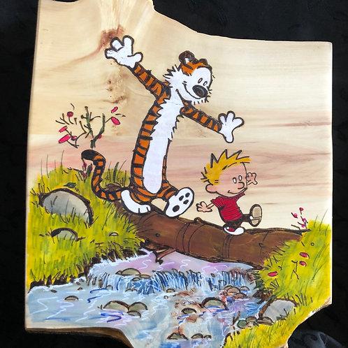 Calvin and Hobbes Log Walk