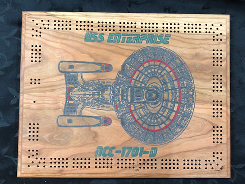 USS Enterprise Cribbage Board