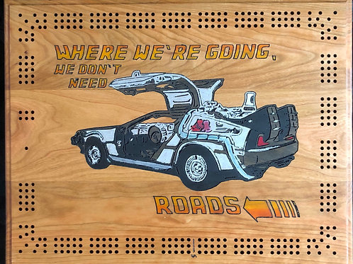 Back to the Future Cribbage Board