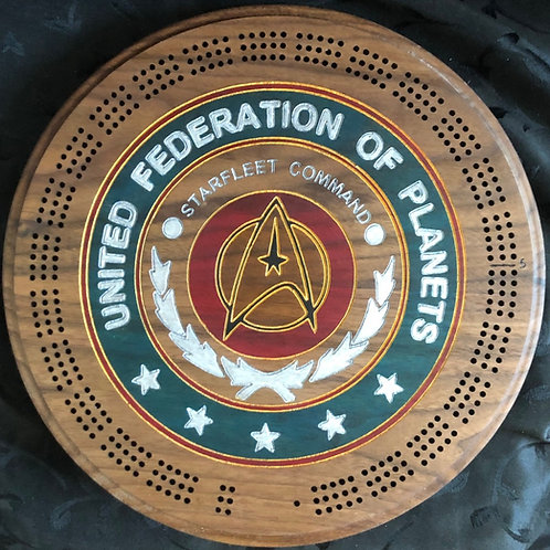 United Federation of Planets Cribbage Board
