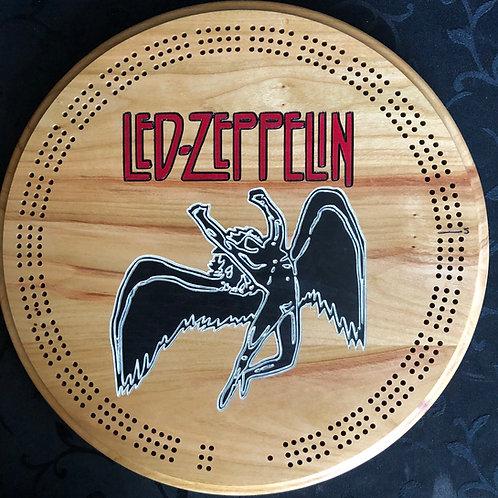 Led Zeppelin Cribbage Board -Cherry