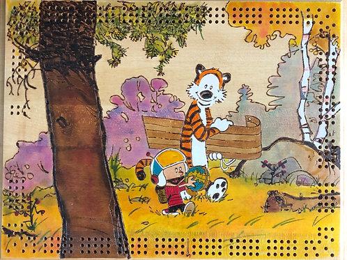 Calvin and Hobbes Yukon Ho! Cribbage Board