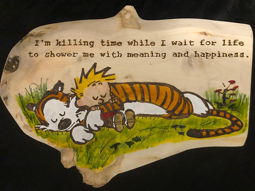 Calvin and Hobbes Killing time