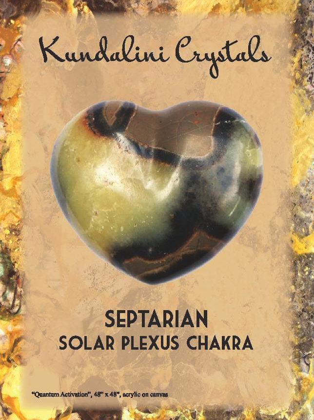 (E) Solar Plexus Chakra -Septarian