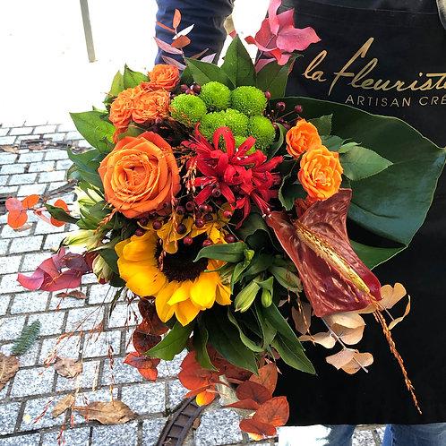 Bouquet tons orangé