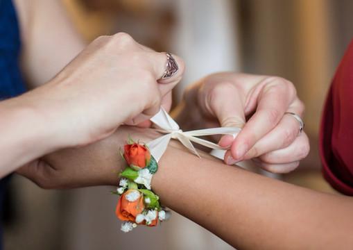 Bracelet Fleuri orangé