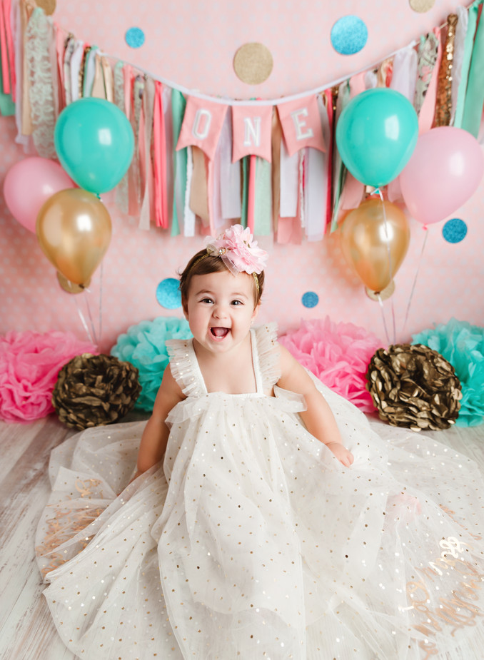 Mia's Cake Smash Session | Gina Gentile Photography, Long Island Cake Smash & Newborn Photog