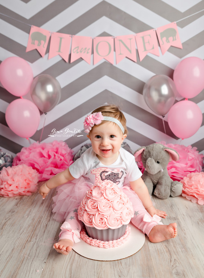 Evelyn's Cake Smash Session | Gina Gentile Photography, Long Island Maternity, Newborn, & Ca