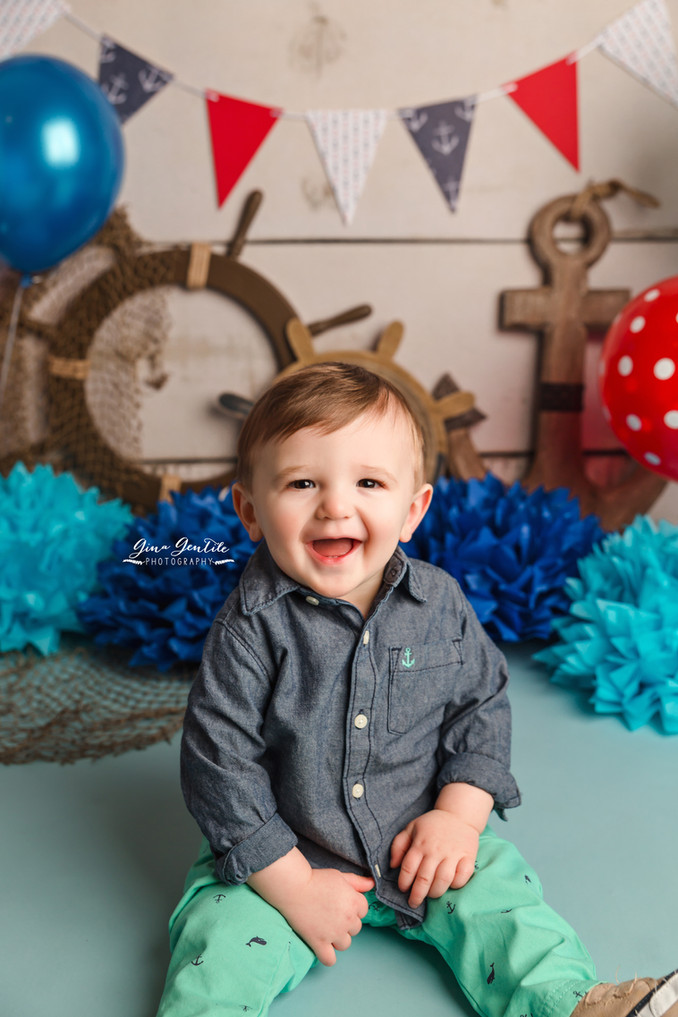 Carter's Cake Smash Session | Gina Gentile Photography, Long Island Cake Smash & Newborn Pho