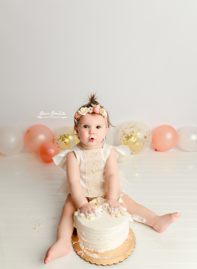 Emilia's Cake Smash Session | Gina Gentile Photography, Long Island Cake Smash & Newborn Pho