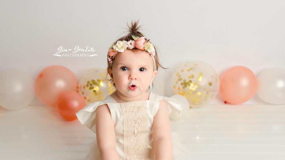 Emilia's Cake Smash Session | Gina Gentile Photography, Long Island Cake Smash & Newborn Pho