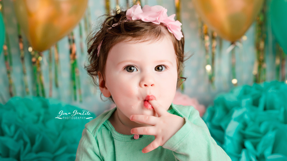 Madeline's Cake Smash Session | Gina Gentile Photography, Long Island Cake Smash & Newborn P