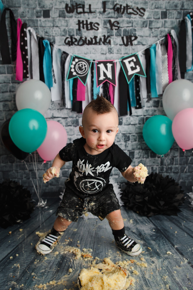 DJ's Blink-182 Cake Smash Session | Gina Gentile Photography, Long Island Cake Smash & Newbo