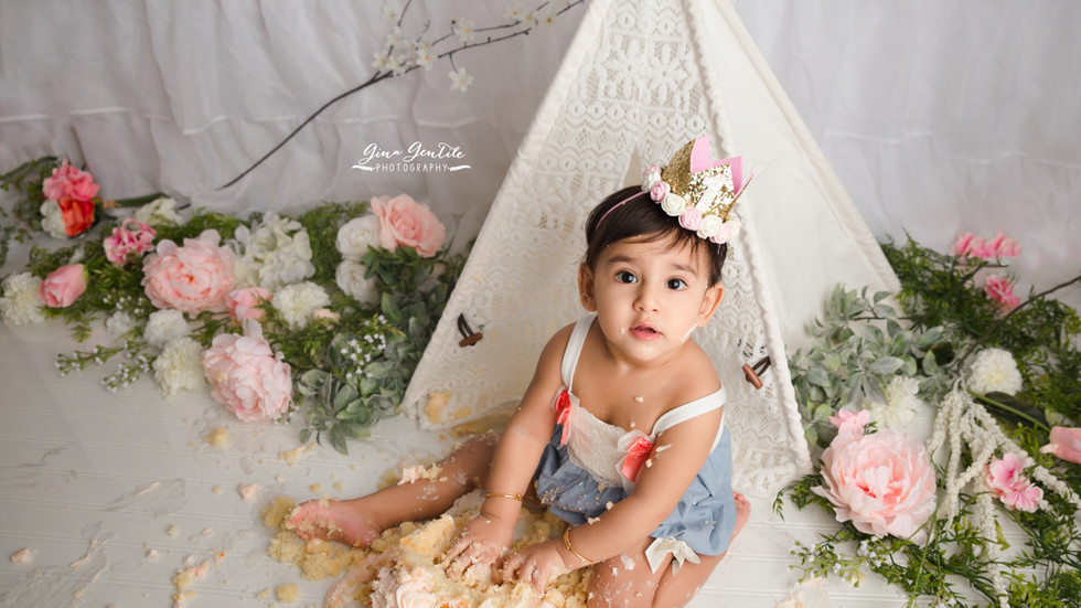 Alisha's Cake Smash Session | Gina Gentile Photography, Long Island Cake Smash & Newborn Pho