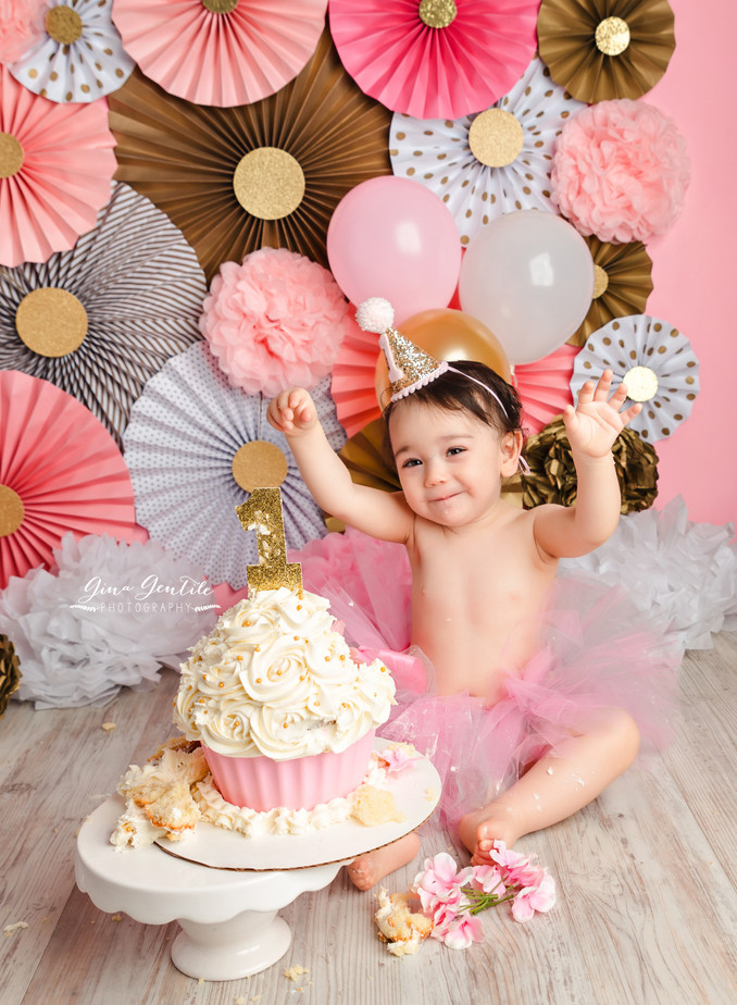 Ilyana's Cake Smash Session | Gina Gentile Photography, Long Island Cake Smash & Newborn Pho