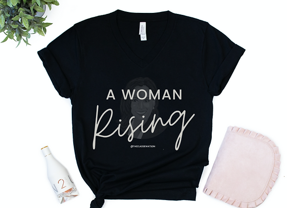 """Kamala Silhouette - A Woman Rising"" Women's V-Neck T-Shirt"
