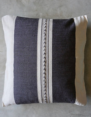 Flecha Cushion- Cotton Woven- Slate Grey