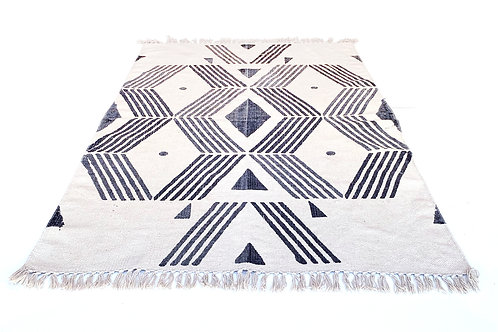 Totem Rug Organic Cotton Block printed 3' x 5'
