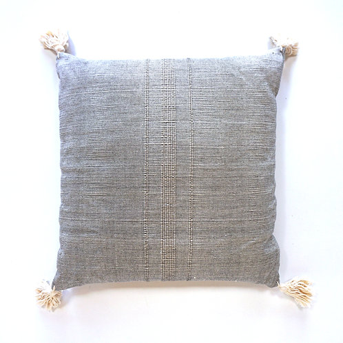 "Piedra, Oaxacan hand woven cotton cushion, ""20 x ""20"