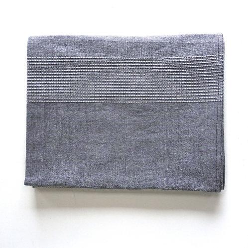 Slate, Oaxacan Cotton woven blanket, Queen size