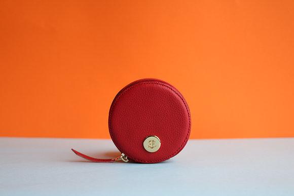 Round Coin Case- Red