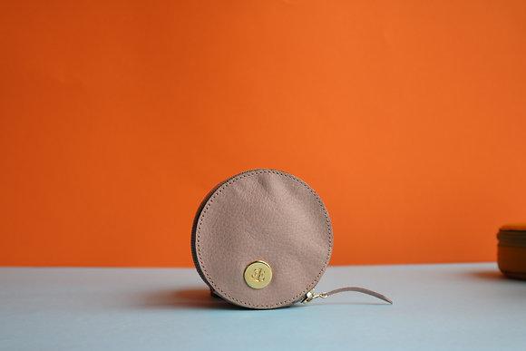 Round Coin Case- Baby Pink