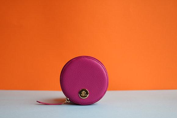 Round Coin Case- Fuchsia