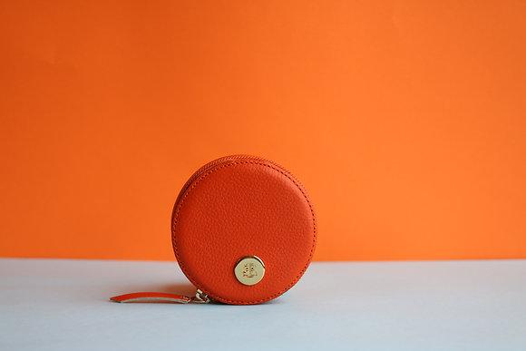 Round Coin Case- Orange