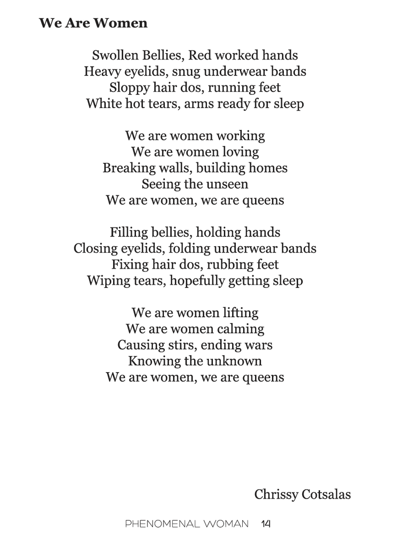 Phenomenal Womxn 2018 Poetry Booklet