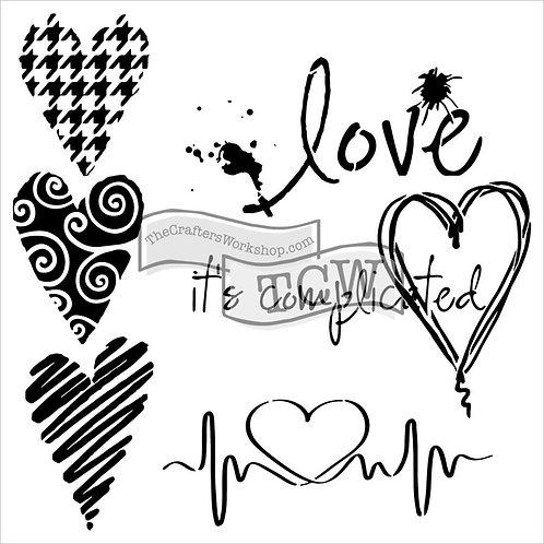 "TCW 6""MINI COMPLICATED HEARTS"