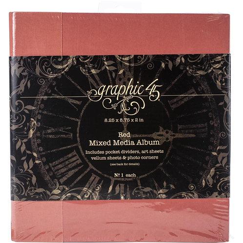 """Graphic 45 Staples Mixed Media Album 8""""X8"""""""