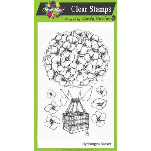 Hydrangea Basket Stamp