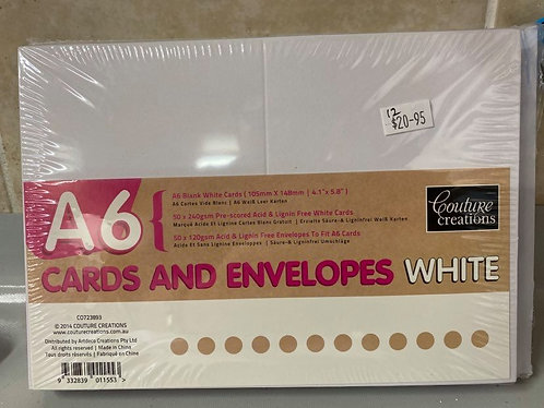 COUTURE CREATIONS A6 BLANK (50 PACK)